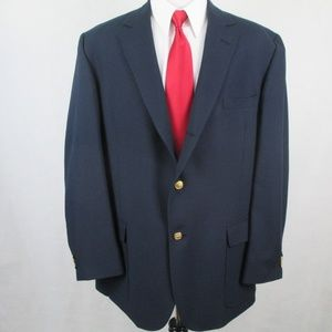 Orvis 3 Roll 2 Gold Button Blazer Navy Blue 48L